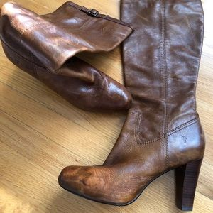Distressed FRYE Boots!